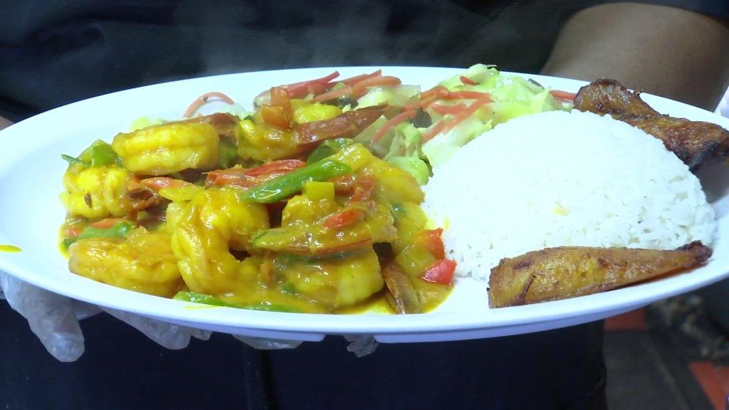 Rock Steady's curry shrimp.