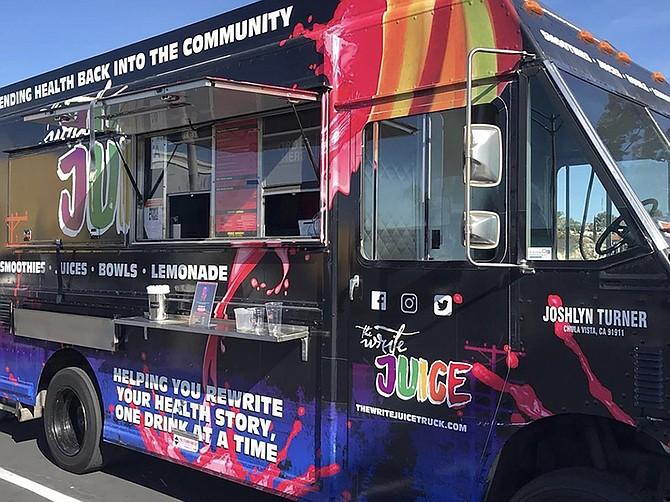 Photo courtesy of Joshlyn Turner. Joshlyn Turner designed her own food truck from a converted delivery van.
