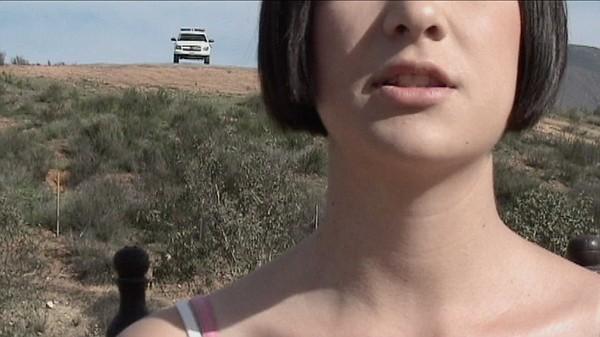 A still from Chantal Peñalosa's video performance work,