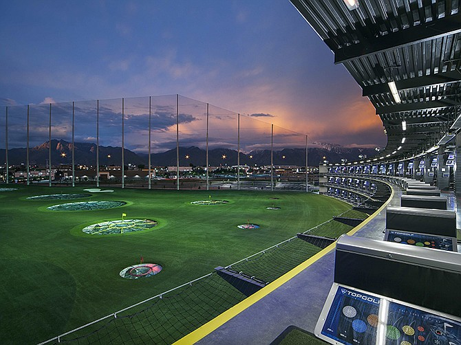 Photo courtesy of Callaway Golf Co. Callaway Golf is now the owner of Dallas-based Topgolf, and plans to add locations. The Salt Lake City venue, shown above, is typical of Topgolf's sports and entertainment facilities.