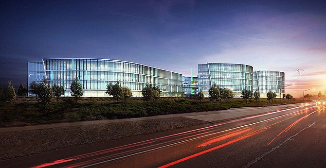 THINK would be the first building in a 1.5 million square-foot high-tech campus planned by Chesnut Properties.