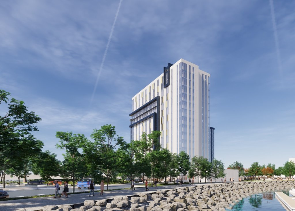 Sunroad HIE Hotel Partners' proposed hotel on Harbor Drive