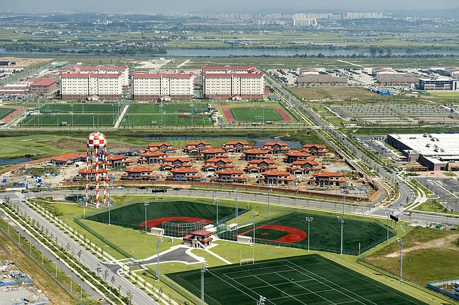 Valiant Global Defense Services of San Diego will support training at Camp Humphreys, South Korea, the largest U.S. military base outside the continental United States. Photo courtesy of U.S. Army.